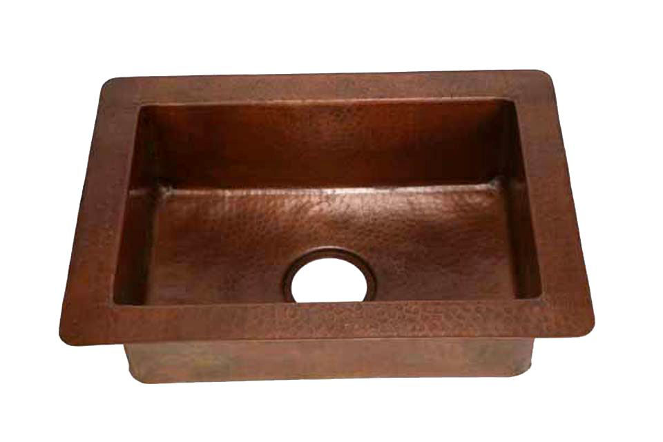 """Picture of 22"""" Copper Prep Sink by SoLuna"""