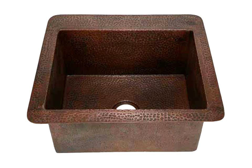 """Picture of 25"""" Copper Kitchen Sink by SoLuna"""