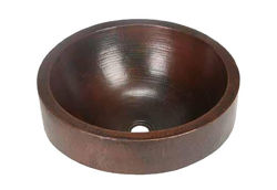 "17"" Prescenio Copper Vessel Sink by SoLuna"