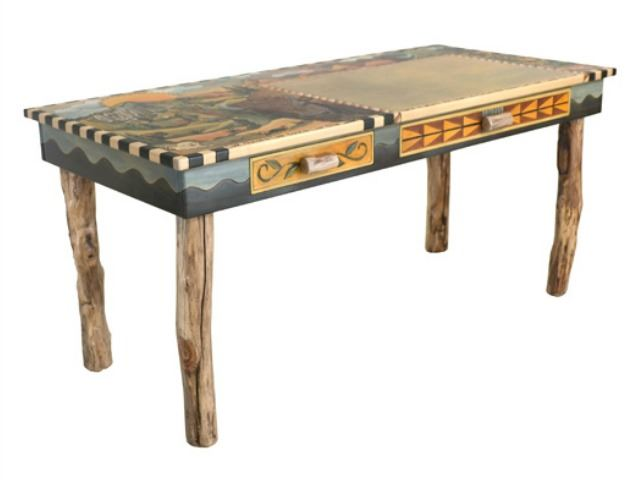 Picture of Hand Painted Desk | Wilderness