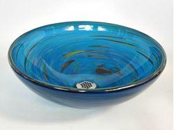 Picture of Blown Glass Sink - Marine Vortex