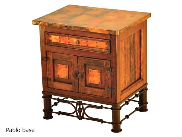 Picture of Country Nightstand with Copper Panels - 7 styles