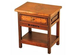 Picture of Taos Nightstand with Copper Panels