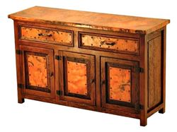 Francisco Copper and Old Wood Buffet - 3 Doors and 2 Drawers
