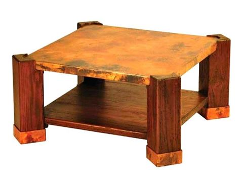 Phoenix Coffee Table with Copper Tabletop