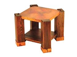 Picture of Phoenix End Table with Copper Tabletop