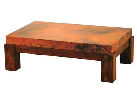 Houston Coffee Table with Copper Tabletop