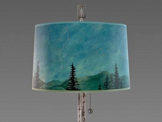Living Room Floor Lamp Shade | Midnight Sky