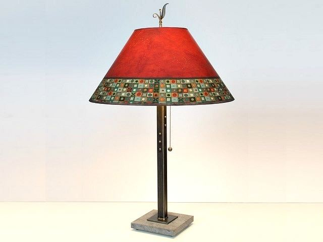 Picture of Janna Ugone Table Lamp | Red Mosaic