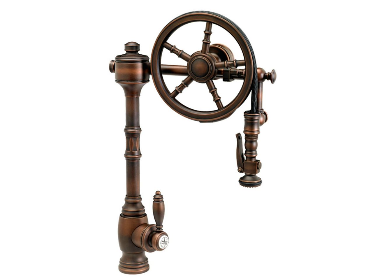 Picture of Waterstone The Wheel Pull Down Kitchen Faucet