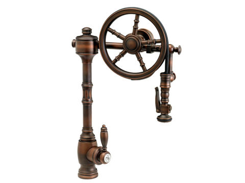 Waterstone The Wheel Pull Down Kitchen Faucet