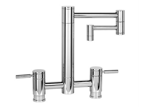 "Waterstone Hunley Bridge Kitchen Faucet with 12"" Articulated Spout"