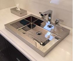 Picture of Rectangular Stainless Steel Bath Sink