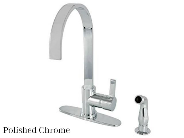 Picture of Kingston Brass Continental Single Handle Kitchen Faucet with Side Spray