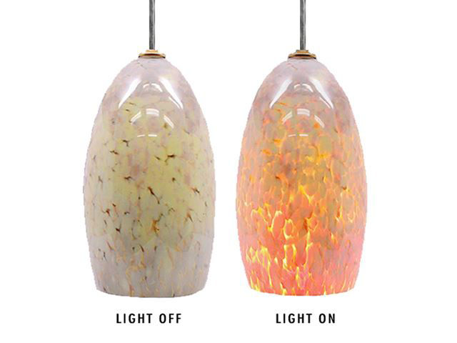 Picture of Blown Glass Pendant Light | Moonstone