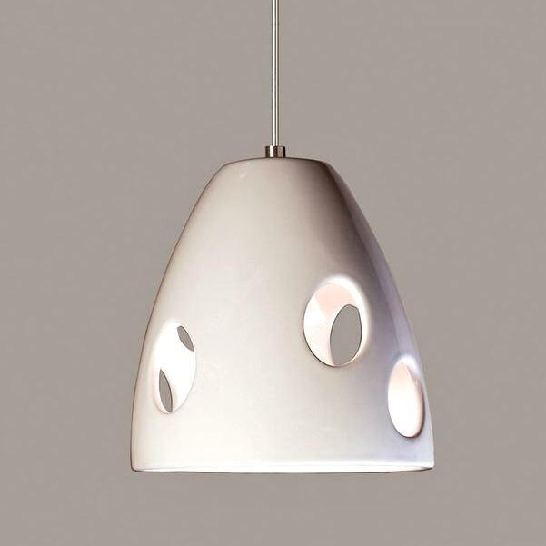 Picture of A19 Ceramic Pendant Light   Milano Black
