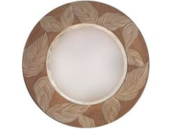 Picture of Grant-Norén Round Mirror - Sage Leaf