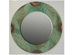 Picture of Grant-Norén Round Mirror - Green Palm