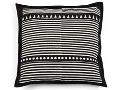 Kamana Black Throw Pillow