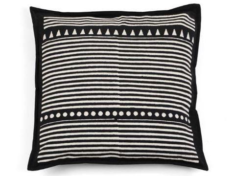 Kamana Black Throw Pillow