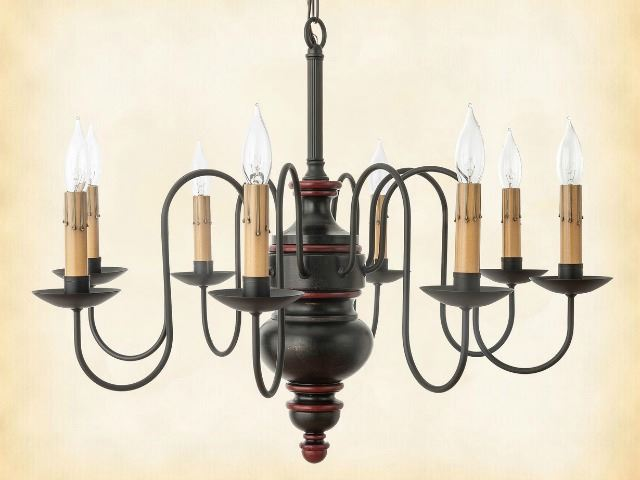 Picture of Chesapeake Wood Chandelier