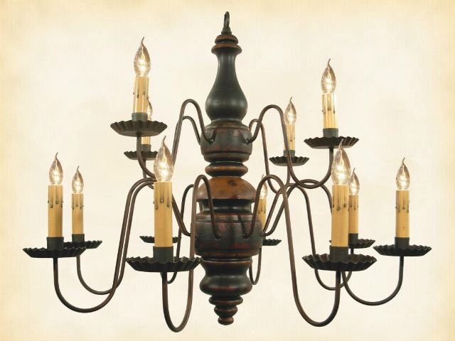 Picture of Charleston Wood Chandelier