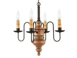 Chesapeake Mini Wood Chandelier