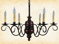 Queen Anne Wood Chandelier