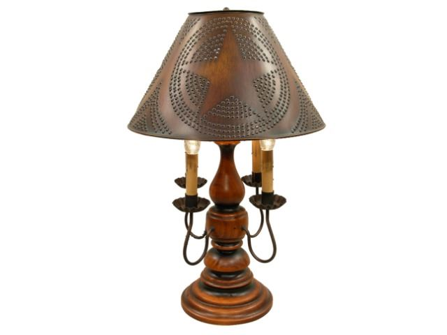 """Picture of Liberty Table Lamp 23"""" with Four Candelabra Arms"""