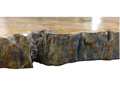 Petrified Wood Cheese Board - Large with Brown Accent