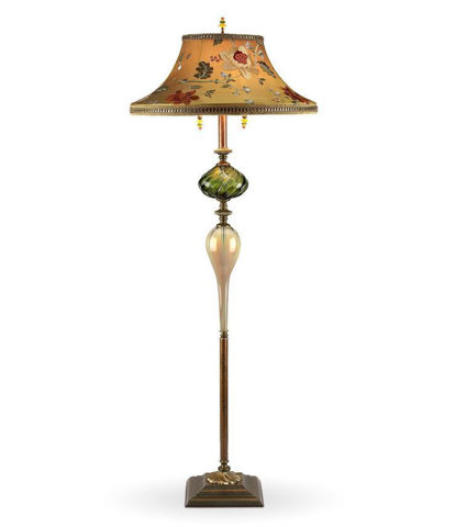Kinzig Floor Lamp - Freddy in Green