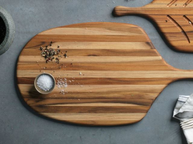 Picture of Large Paddle Shaped Serving Board by Proteak