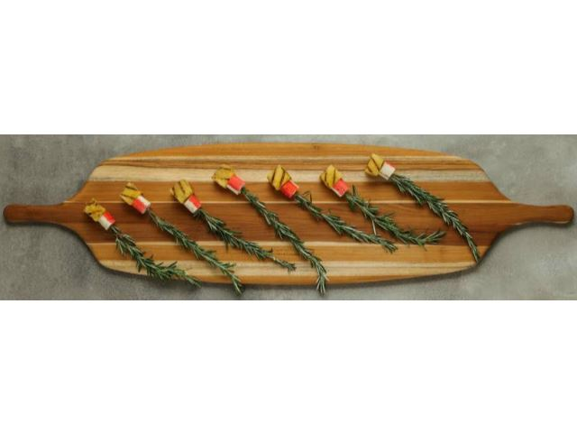 Picture of Two Handle Canoe Serving Board by Proteak