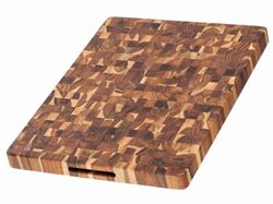 End Grain Butcher Hand Grip Chopping Block by Proteak