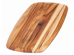 Rectangle Edge Grain Gently Rounded Edge Serving Board by Proteak 12 inch