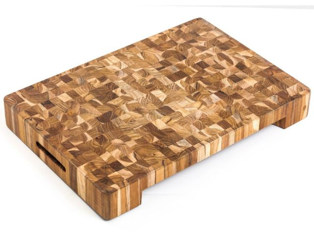 Picture of End Grain Butcher Block with Hand Grips and Bowl Cut Out by Proteak