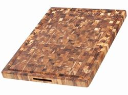 End Grain Butcher Hand Grip Chopping Block with Juice Canal by Proteak