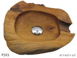 Teak Wood Vessel Sink - Freeform