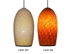 Picture of Blown Glass Pendant Light | Honeycomb