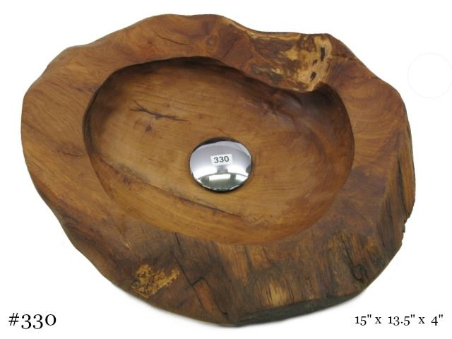 Picture of Teak Wood Vessel Sink - Oval