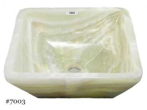 SoLuna White Onyx Square Vessel Sink