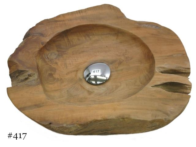 Picture of Bathroom Sink - Teak Wood Vessel - Group 5