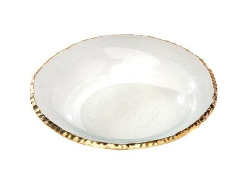 "Edgey 9"" Glass Soup Bowl"