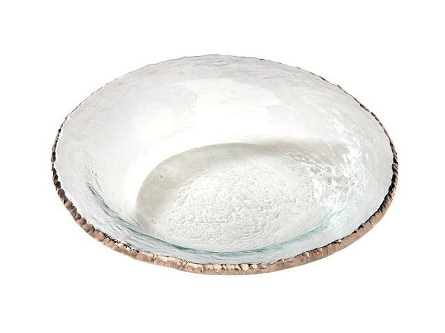 "Picture of Edgey 9"" Glass Soup Bowl"