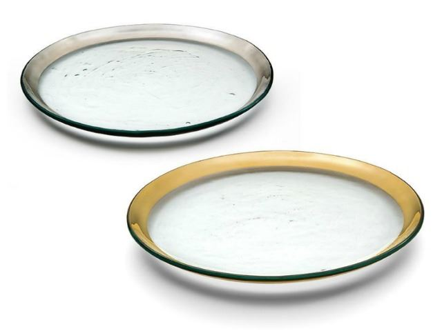 """Picture of Roman Antique 12"""" Glass Buffet Plate"""