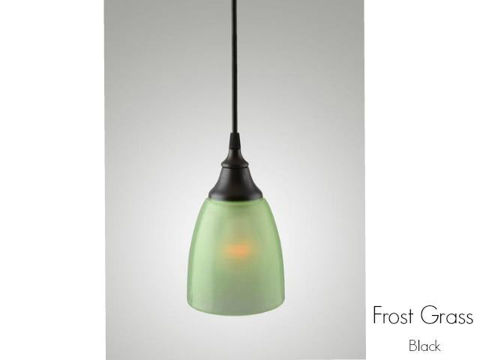 Frost Glass Pendant Light in Grass
