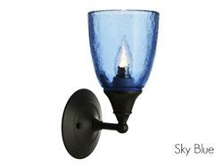 Clear Glass Sconce in Sky Blue