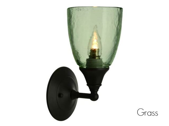 Picture of Clear Glass Sconce in Grass