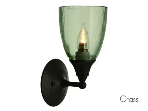 Clear Glass Sconce in Grass