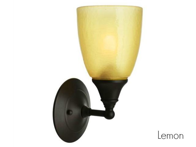 Picture of Frost Glass Sconce in Lemon